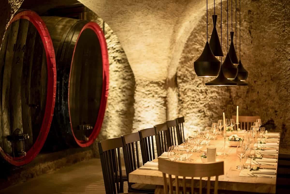 Seehof Keller | Restaurant Innen Fass - Inside Barrel